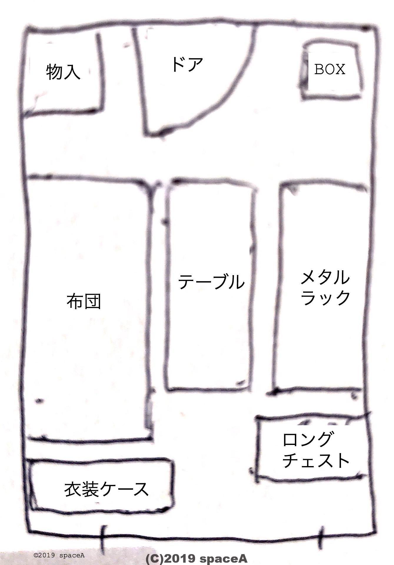 18平米の部屋におけるもの