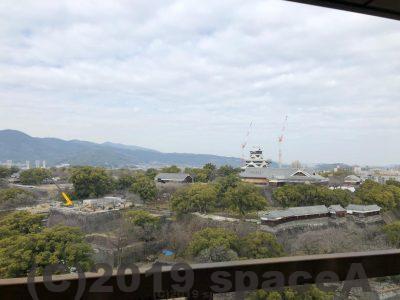 熊本市役所からみた熊本城