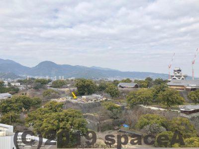 熊本市役所から見た熊本城