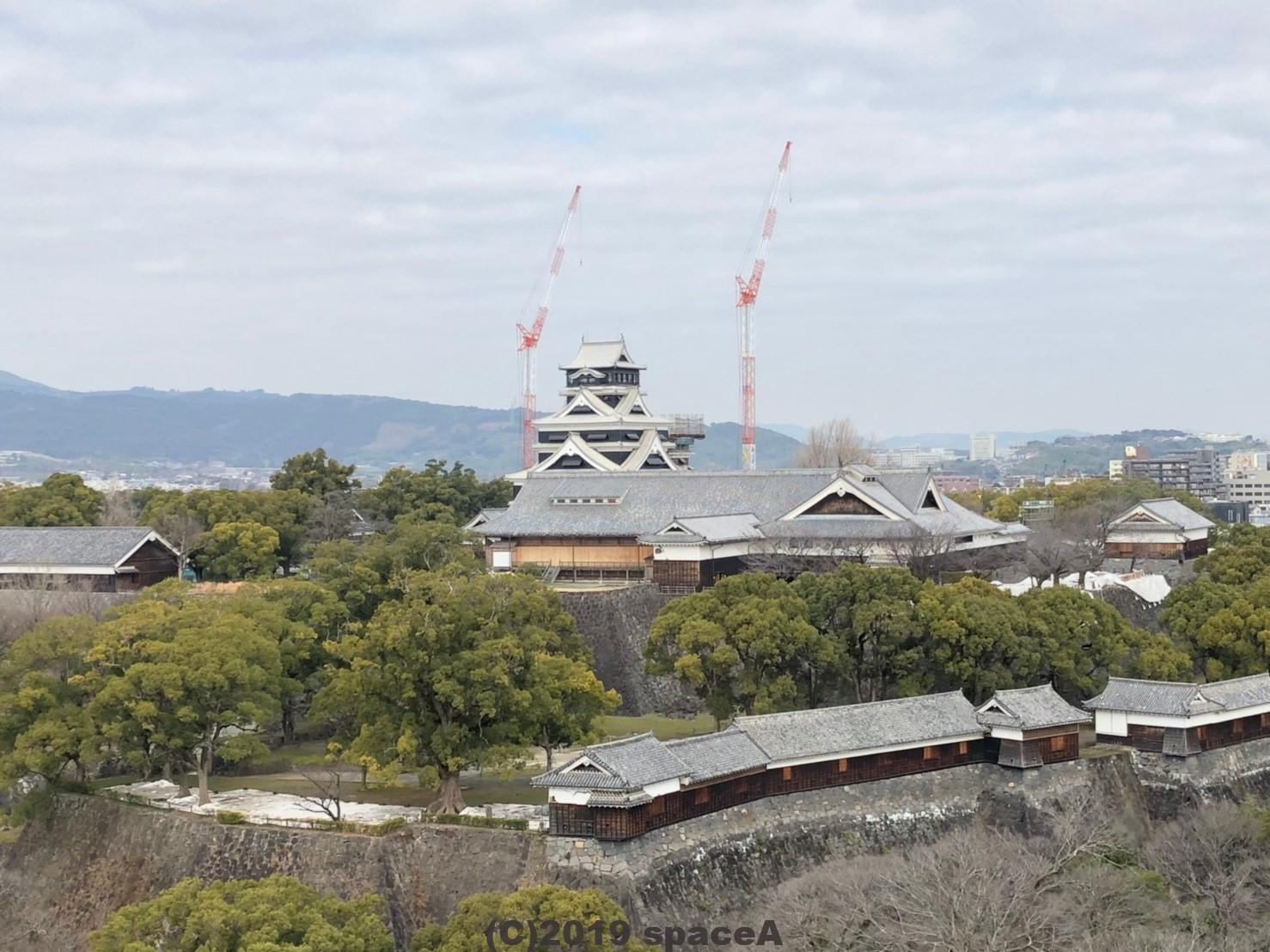 修理中の熊本城