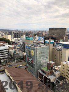 熊本市役所からみた街の様子