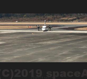 熊本空港で見られるプロペラ機