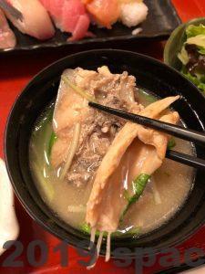 國枝鮮魚店のランチ魚屋の寿司膳の海鮮汁