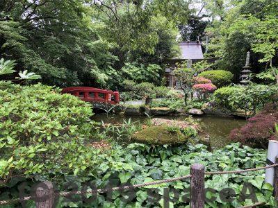本渡諏訪神社の緑が多い場所