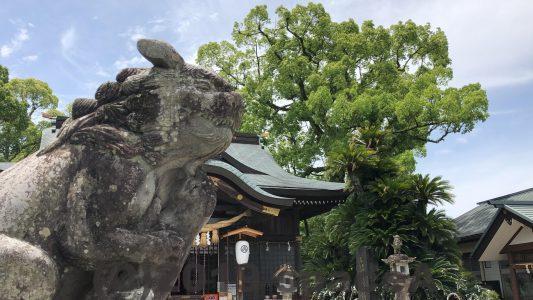 本渡諏訪神社の狛犬