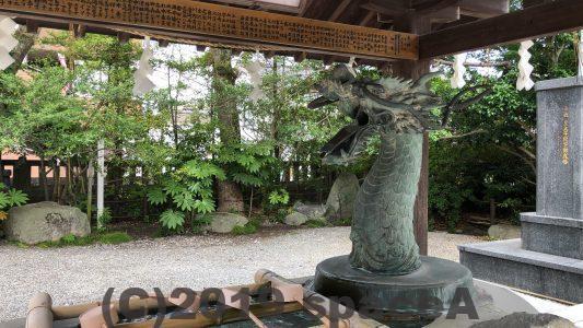 本渡諏訪神社の手水舎