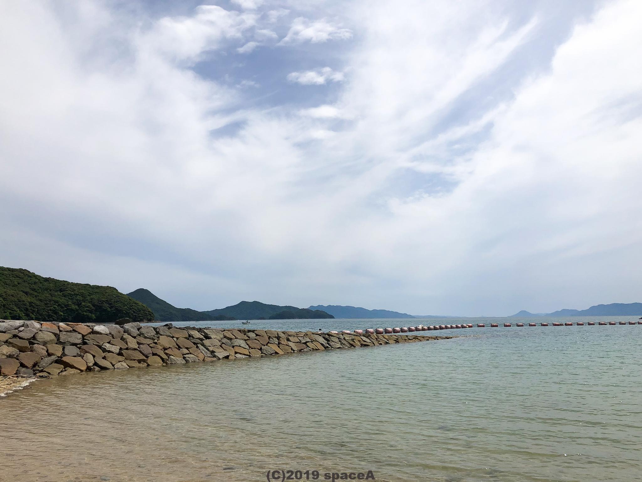 えびすビーチの海