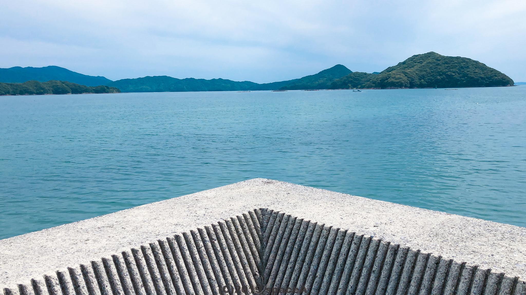 倉岳中学校グラウンド前岸壁